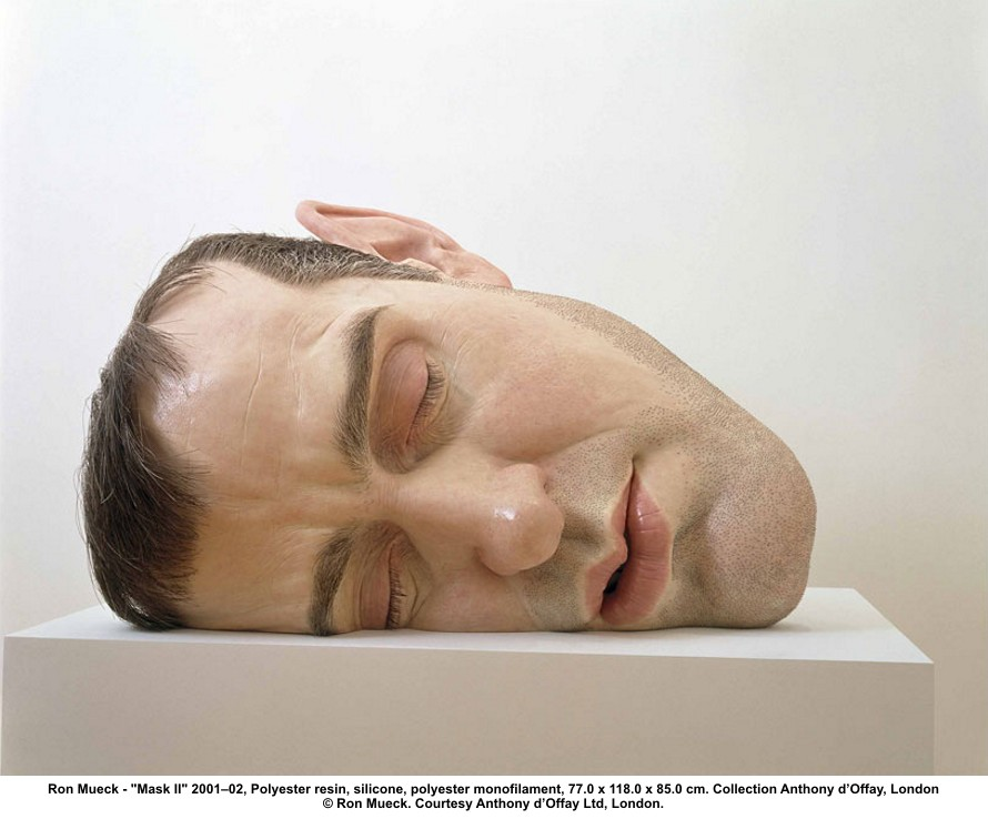 Ron Mueck, Mask II, 2002, courtesy collection Anthony d'Offay, Londres